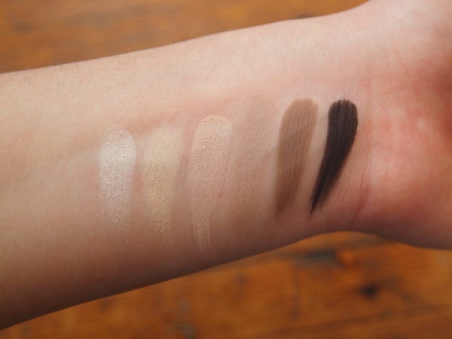 naked basics swatches