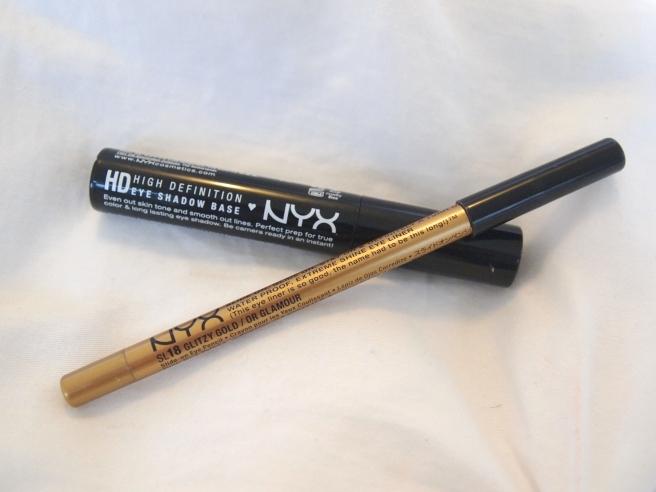 nyx glitzy gold, nyx eye primer