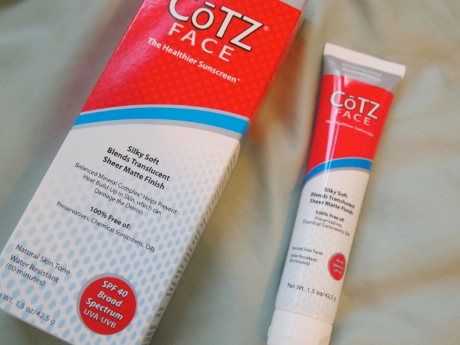 cotz natural face spf 40