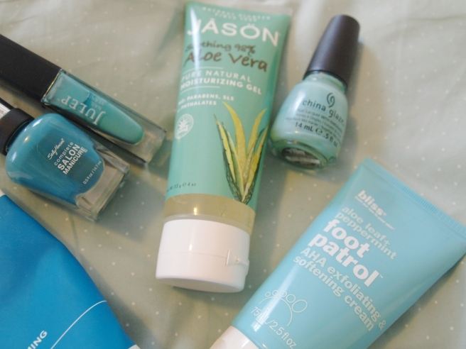 teal beauty products