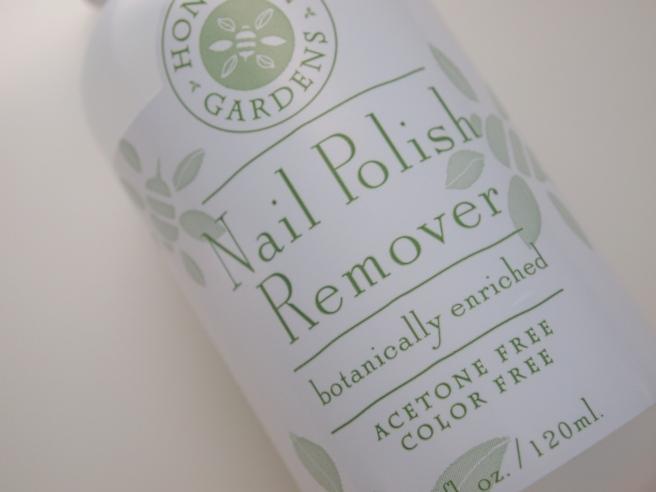 honeybee gardens nail polish remover