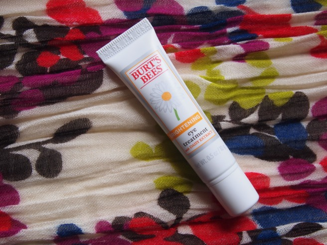 burts bees brightening eye treatment
