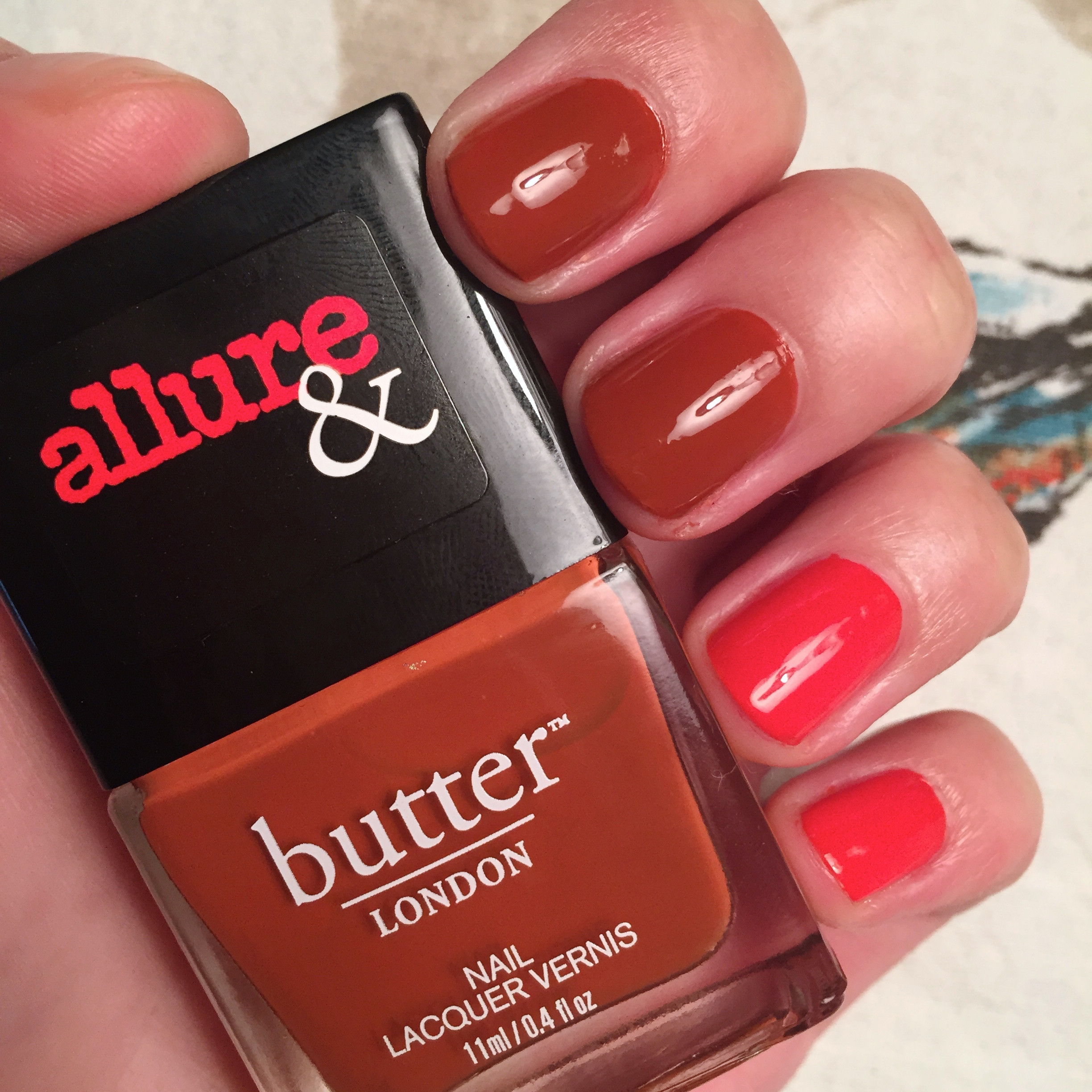 Butter London & Allure Arm Candy Nail Polish