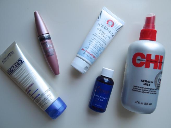 chi, john frieds, mayeblline, first aid beauty