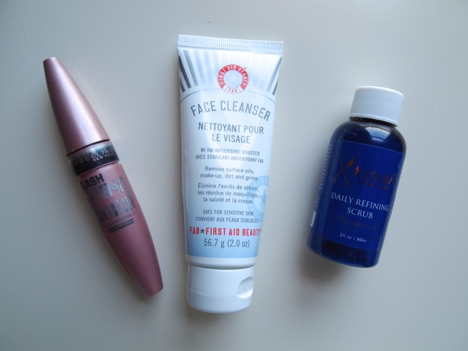 maybelline mascara, first aid beauty cleanser