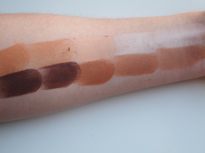 pur minerals cameo contour swatches