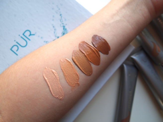 pur hydra fluid swatches