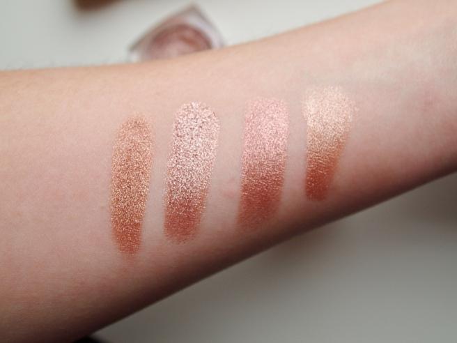 copper eye shadows