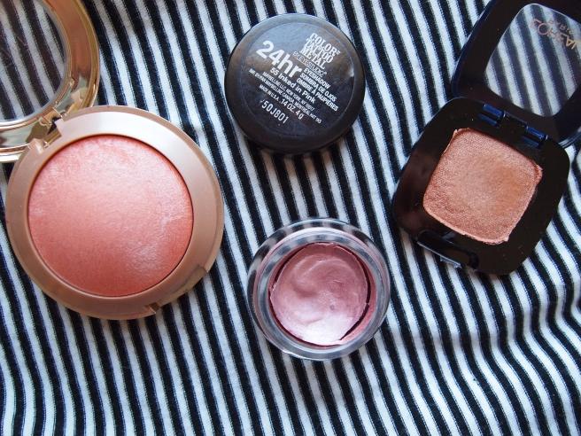 peachy pink make up